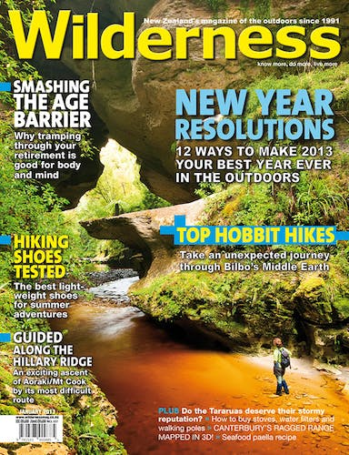 Image of the January 2013 Wilderness Magazine Cover