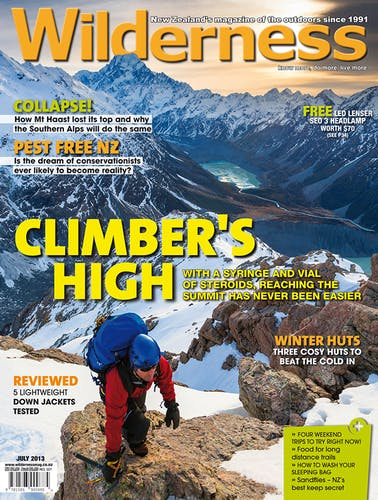 Image of the July 2013 Wilderness Magazine Cover