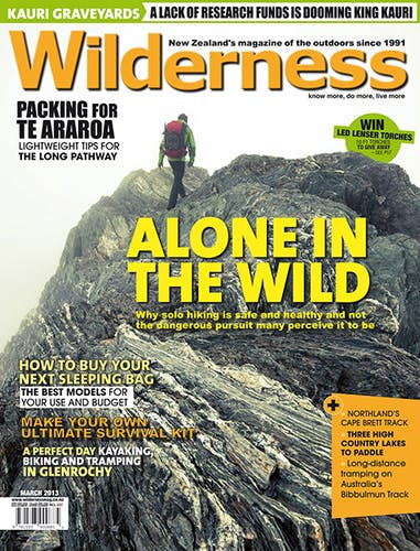 Image of the March 2013 Wilderness Magazine Cover