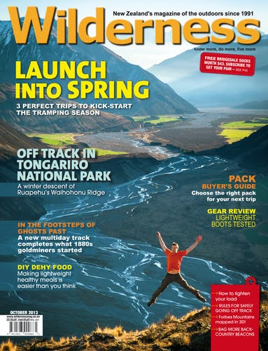 Image of the October 2013 Wilderness Magazine Cover