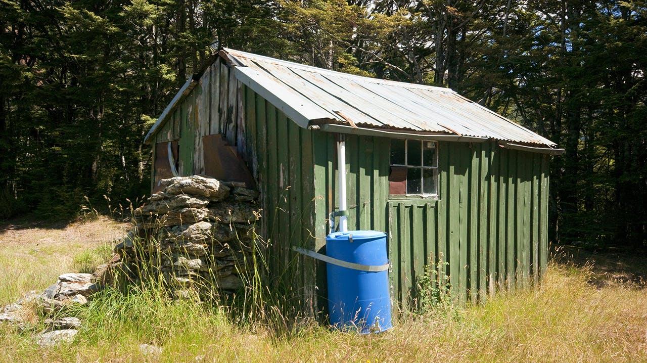 Twenty Five Mile Hut is a useful stopover if the stream is uncrossable. Photo: Ray Salisbury