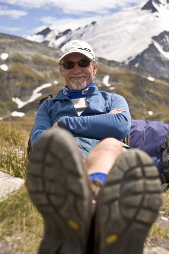Andy Dennis at Cascade Saddle, Mt Aspiring NP in 2010. Photo: Shaun Barnett