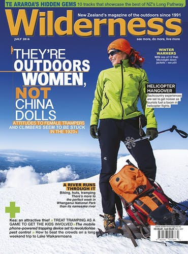 Image of the July 2016 Wilderness Magazine Cover