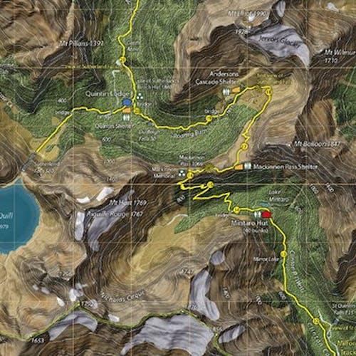 Great Walks maps