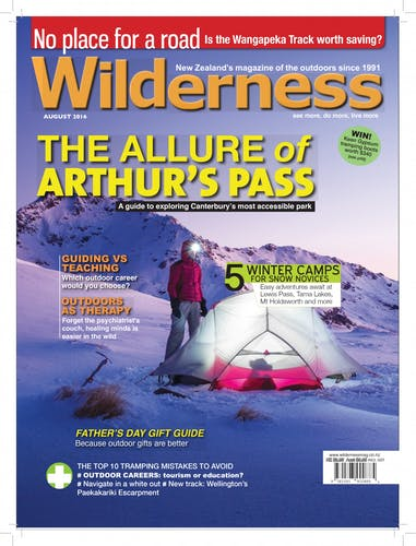 Image of the August 2016 Wilderness Magazine Cover