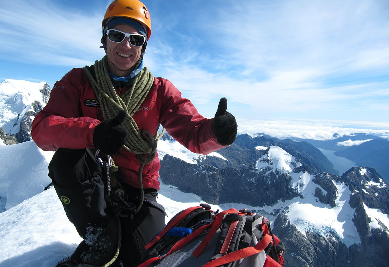 Steve Moffat has never tired of being a mountain guide. Photo: Steve Moffat