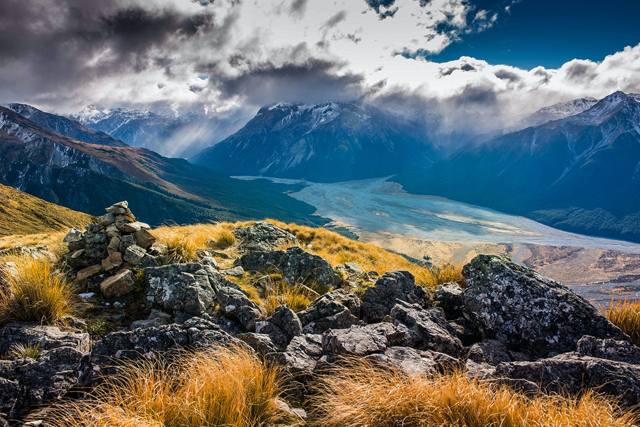 At the head of the Waimakariri Valley are several passes offering access into Westland. Photo: Pat Barrett