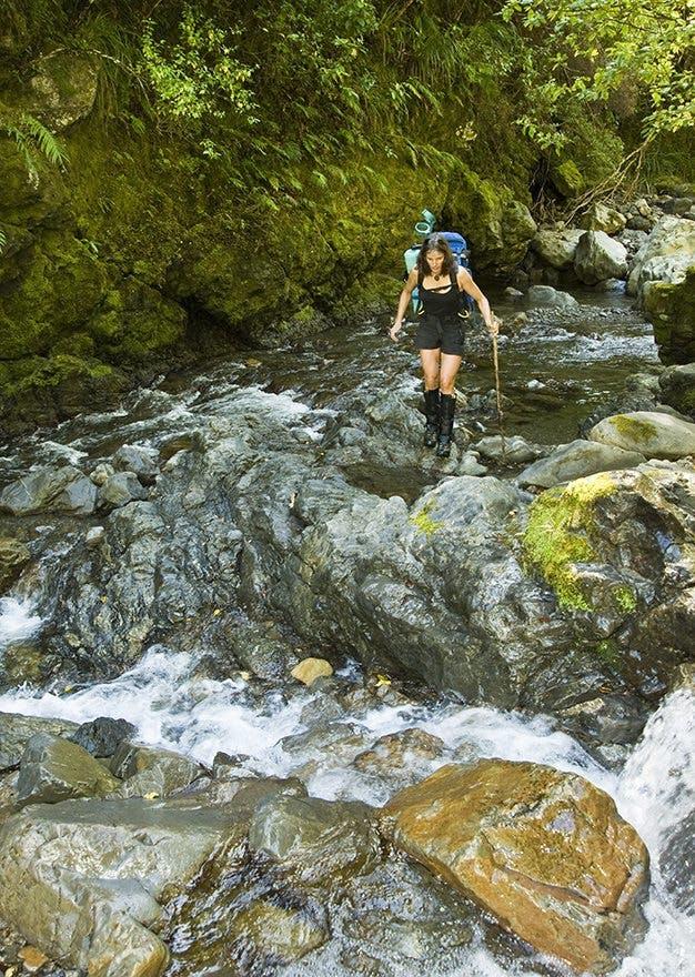 Heather Rhodes, South Ohau River, Tararua FP, Horowhenua