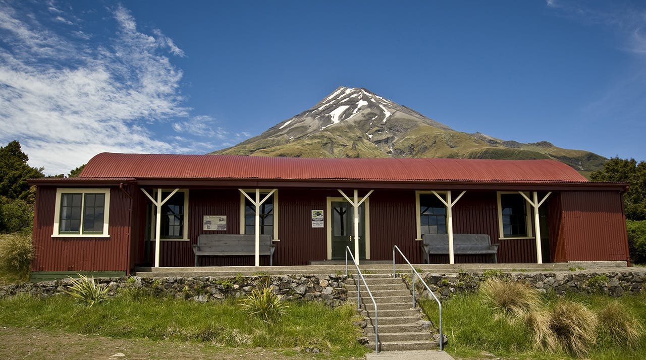 The Camphouse is the oldest building in any of New Zealand's national parks. Photo: Shaun Barnett/Black Robin Photography