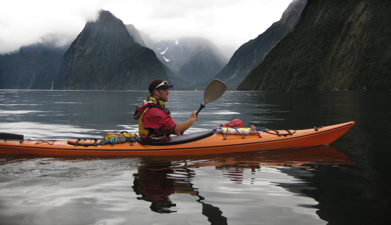 Ben McDowall enjoys another day in his office, in Milford Sound, Fiordland.. Photo: Edith Leigh