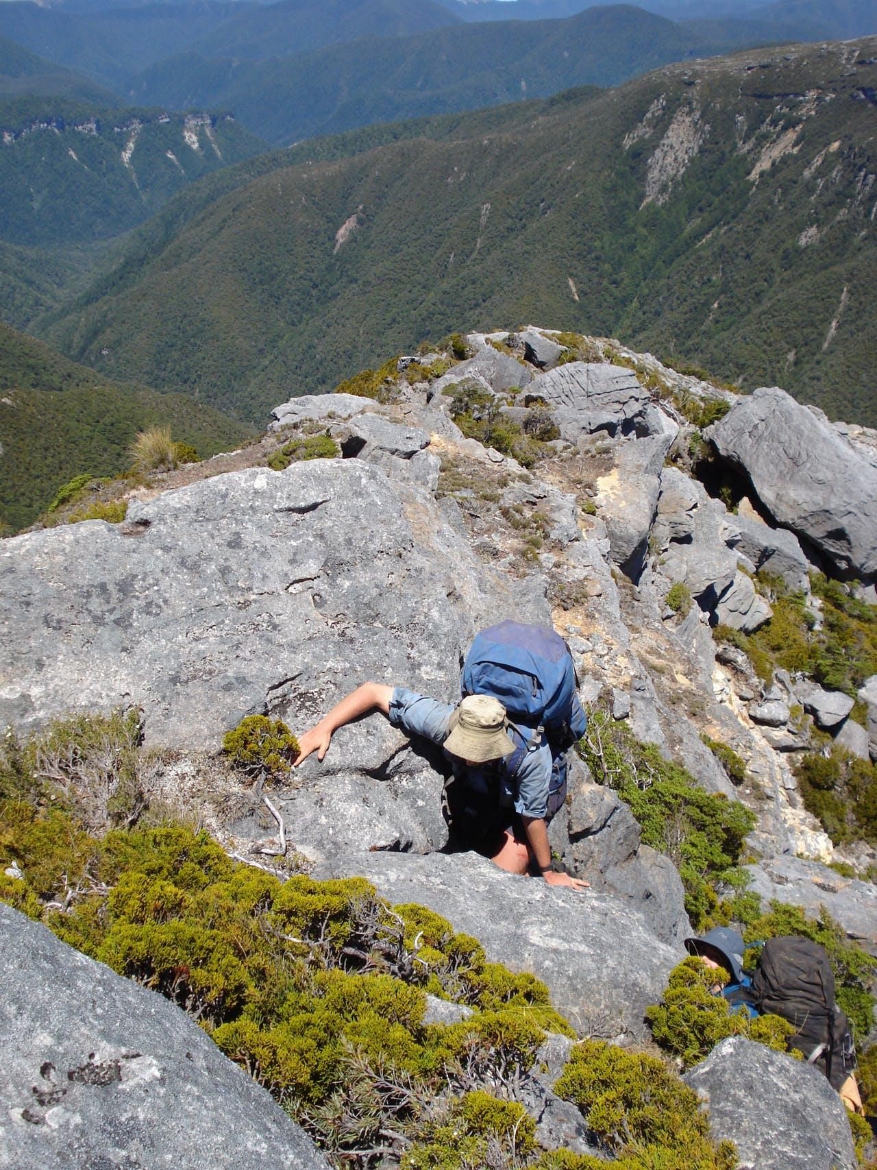 Ascending the spur onto the Garibaldi plateau. Photo: Hannah McGregor