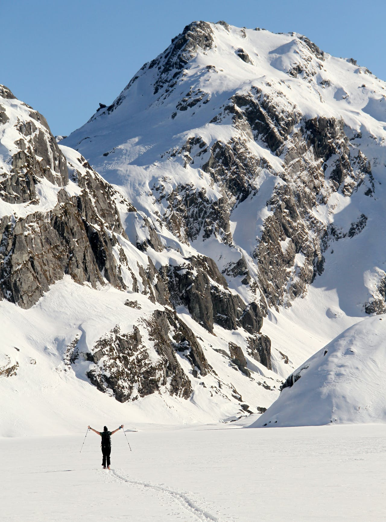 Winter on the Routeburn provides plenty of skiing opportunities and unwinding in the cosy - and empty - huts