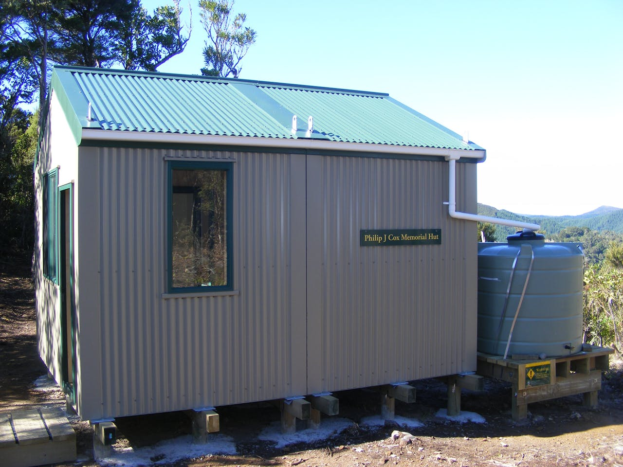The new Silver Peaks hut is named after a local outdoorsman who died in 2009