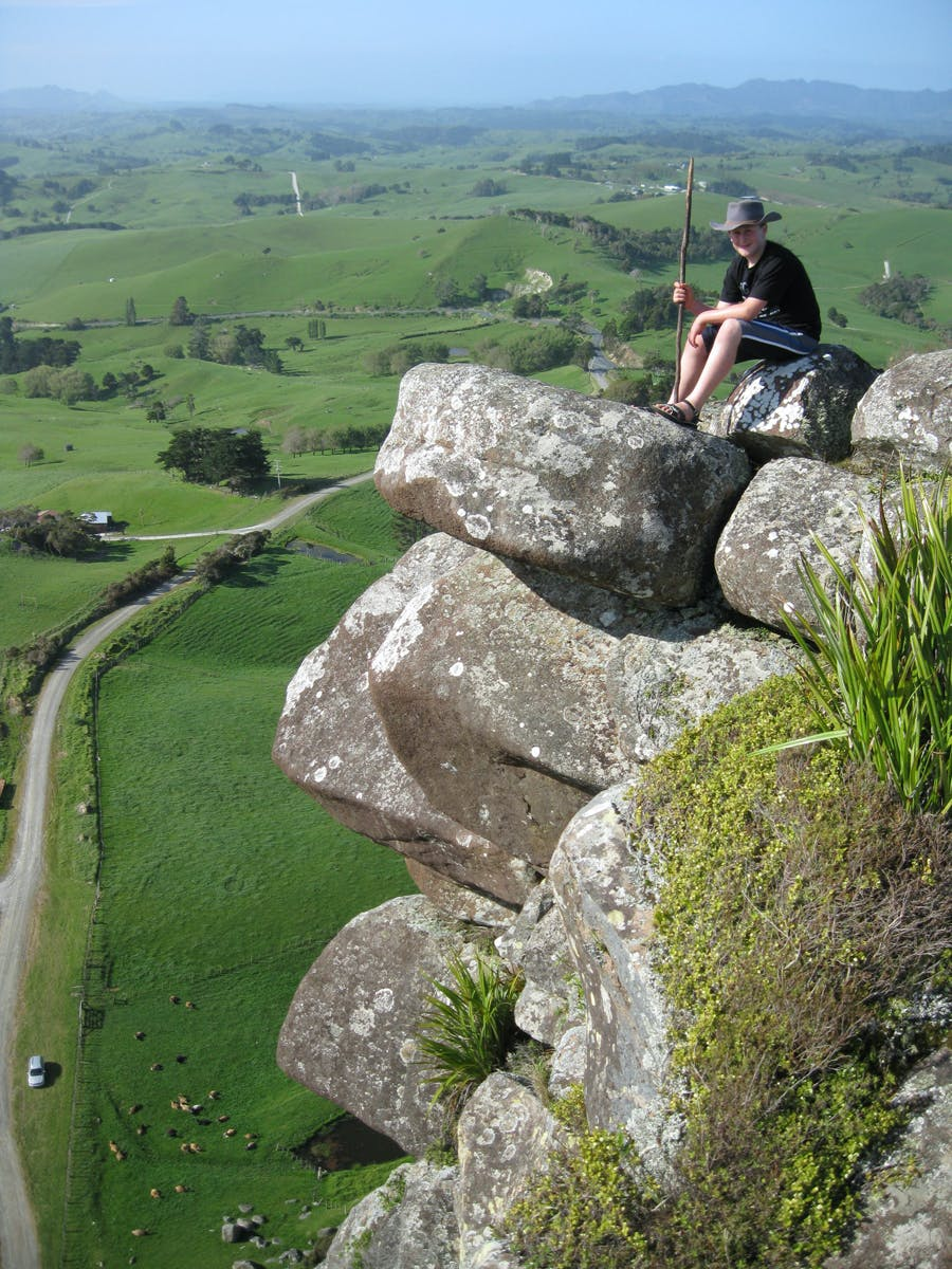 """Maungarago trig in Northland isn't on the official peak bagging list yet, but Bai reckons it should be as it is an """"awesome little peak"""" to do. Photo: Marcus Bai"""