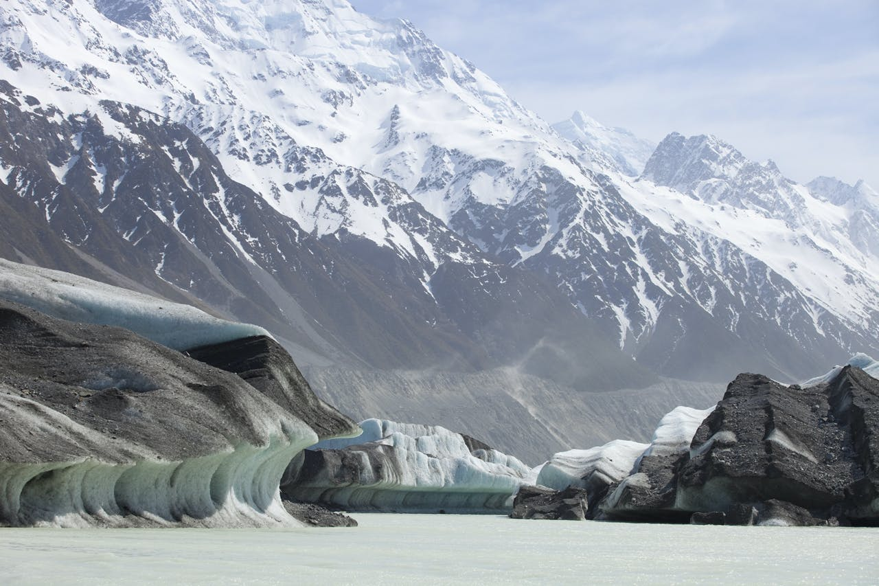 An iceberg from the Tasman Glacier, Tasman Lake, Mount Cook National Park. Photo: Derek Morrison