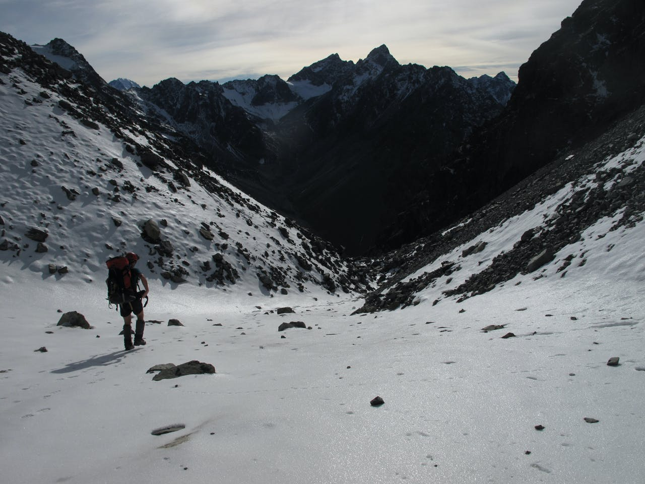 Descending to Pinnacle Stream, Aoraki/Mt Cook National Park. Photo: Richard Davies