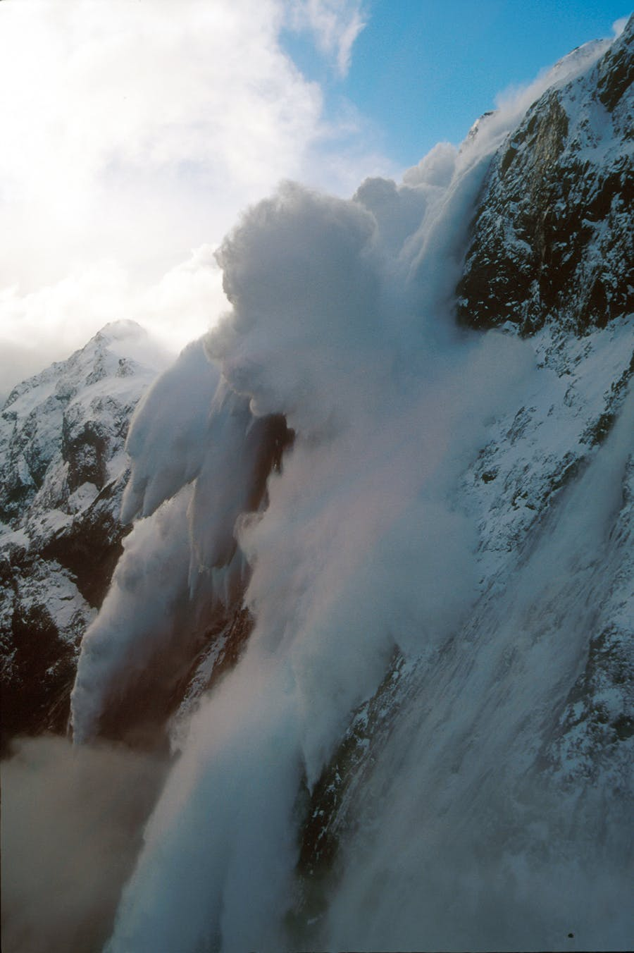 Massive size four and five avalanches are common around Milford Rd