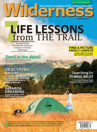 Image of the November 2016 Wilderness Magazine Cover