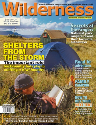 Image of the November 2012 Wilderness Magazine Cover