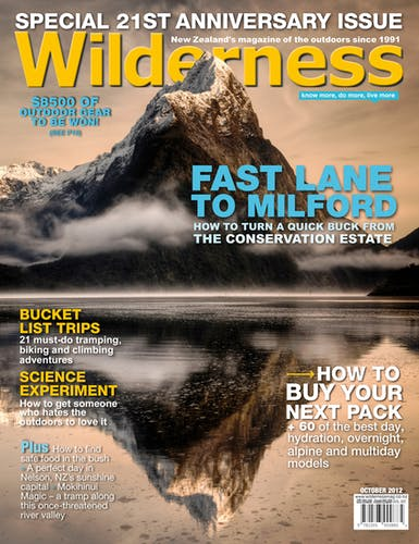 Image of the October 2012 Wilderness Magazine Cover