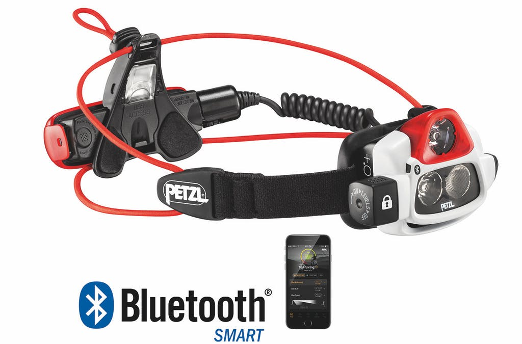 Control the light output with the Petzl app