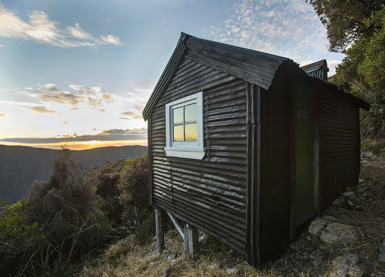 An old miner's hut on the Croesus Track. Photo: Neil Silverwood
