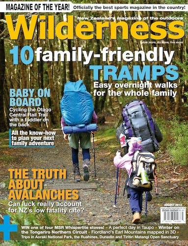 Image of the August 2012 Wilderness Magazine Cover