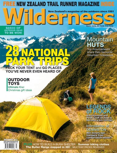 Image of the December 2012 Wilderness Magazine Cover
