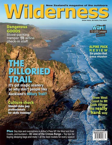 Image of the March 2012 Wilderness Magazine Cover