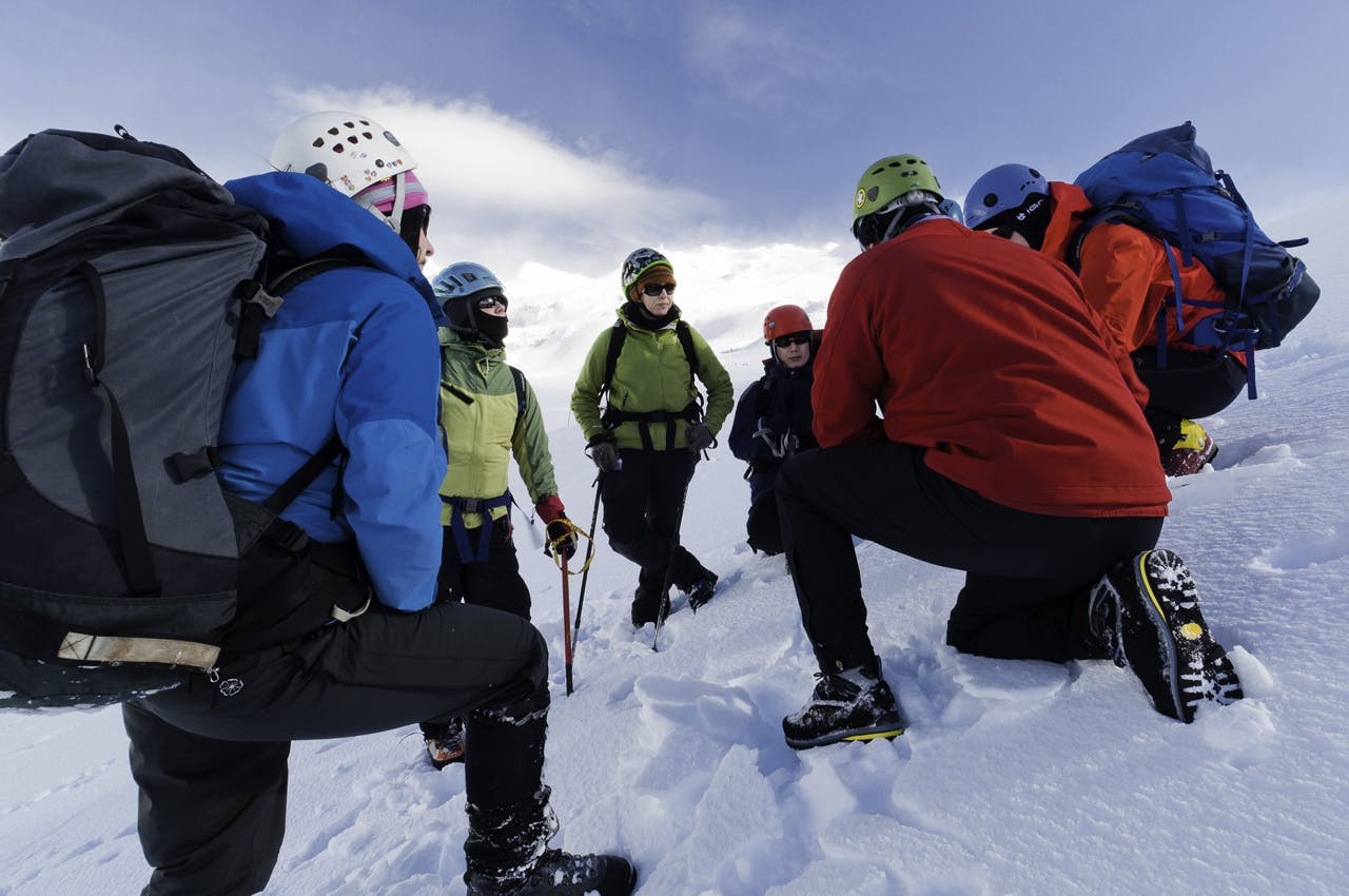 The relationships formed on courses like NZAC's Wellington section alpine instruction course can be lasting and incredibly rewarding for instructors as well as students. Photo: Fraser Crichton