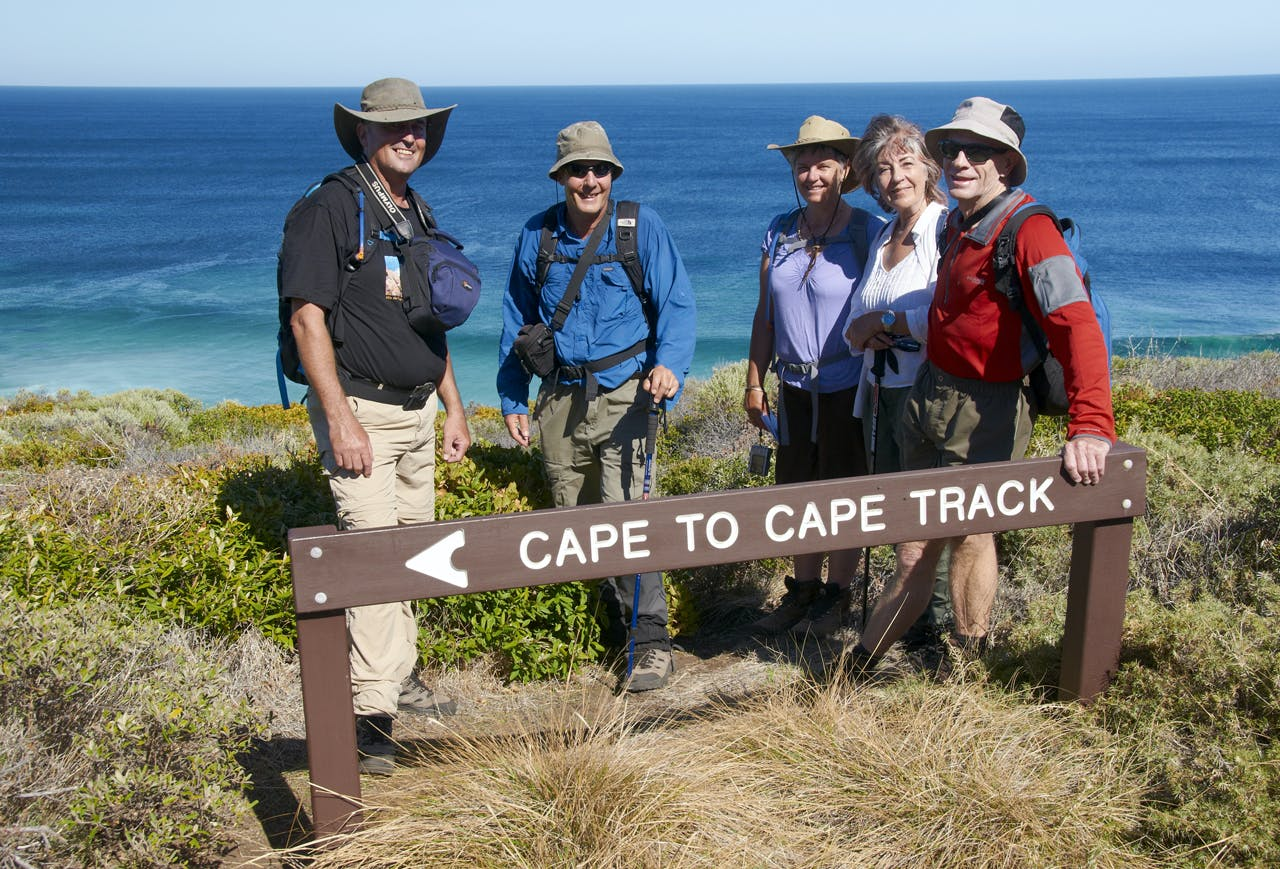 Our group nearing the end, day 7 on the C2C. Photo: Melanie Ball