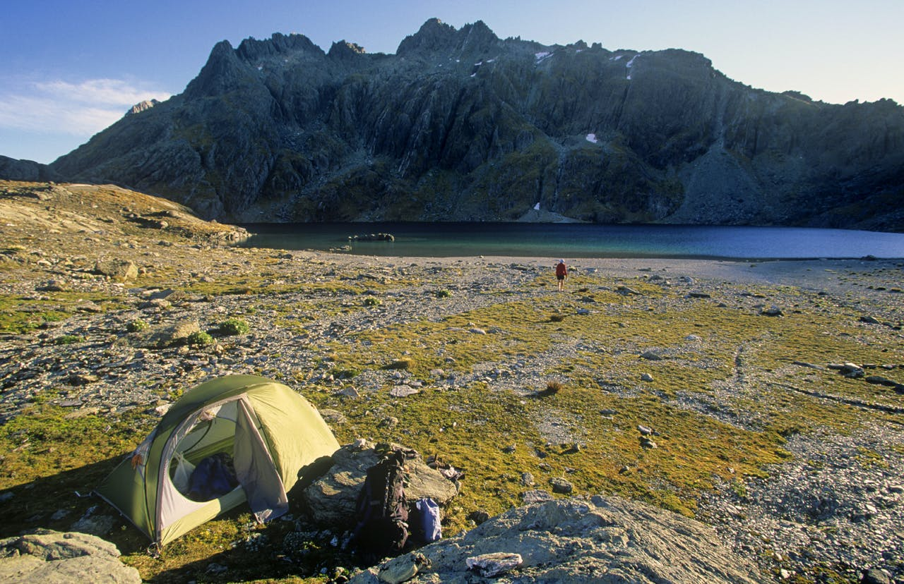 Lake Nerine marks a perfect camping spot. Photo: Nick Groves