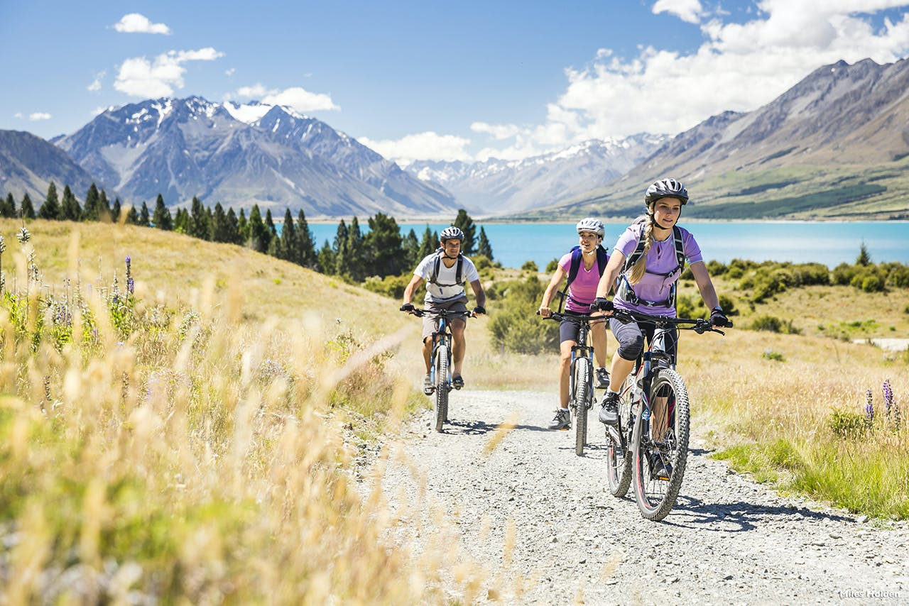 The Alps 2 Ocean Trail runs for 300km from Aoraki/Mt Cook to Oamaru. Photo: Miles Holden