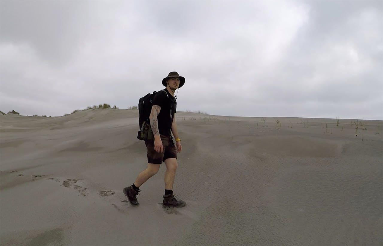 Brando Yelavich is now walking the coast around Stewart Island