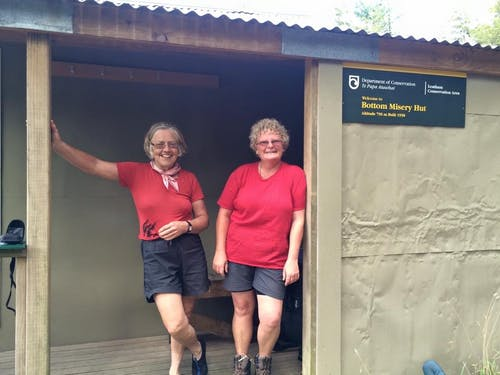 Muriel Donald and Christine Wellington are traversing the South Island to raise money for kea