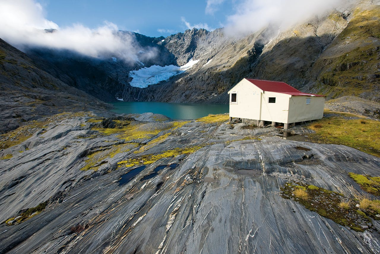 Ivory Lake Hut was voted Hut of the Year in the 2016 Outdoor Awards. Photo: Mark Watson