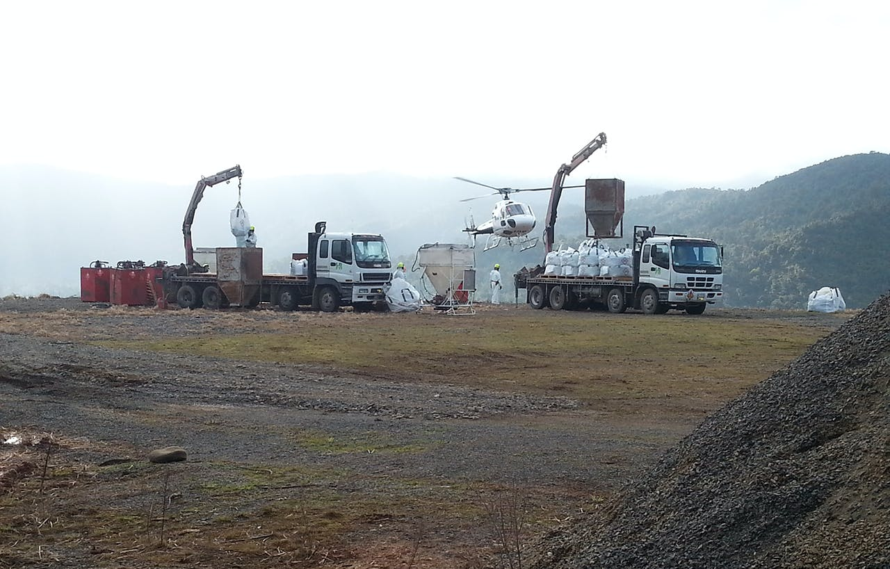 Workers prepare bait for the Coromandel operation. Photo: Supplied