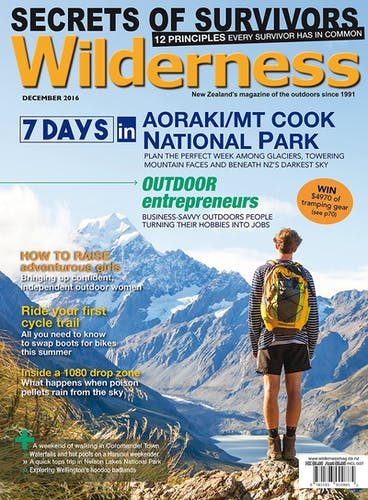 Image of the December 2016 Wilderness Magazine Cover