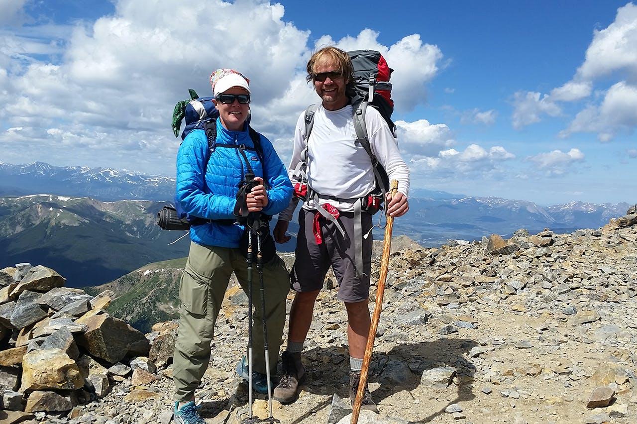 Thru-hiking veterans Maria and David