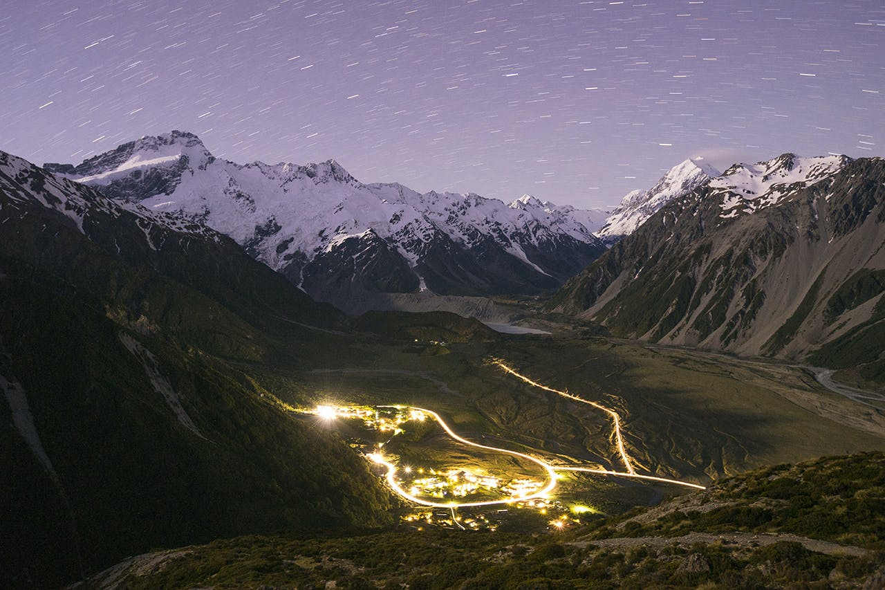 The track to Red Tarns provides excellent views of the village below and the night sky above. Photo: Mark Watson