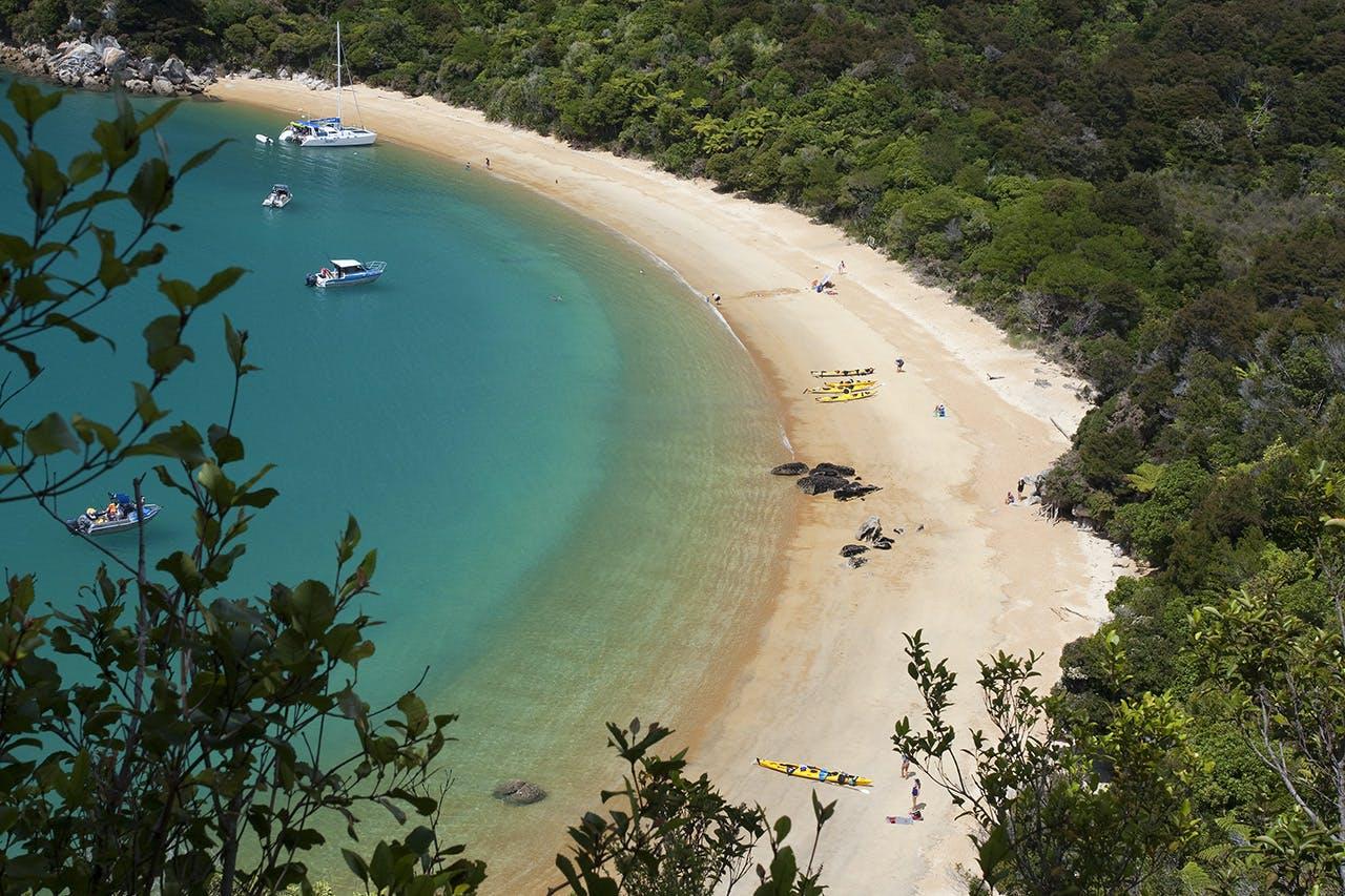 View of Te Pukatea Bay Abel Tasman. Photo: Ray Salisbury