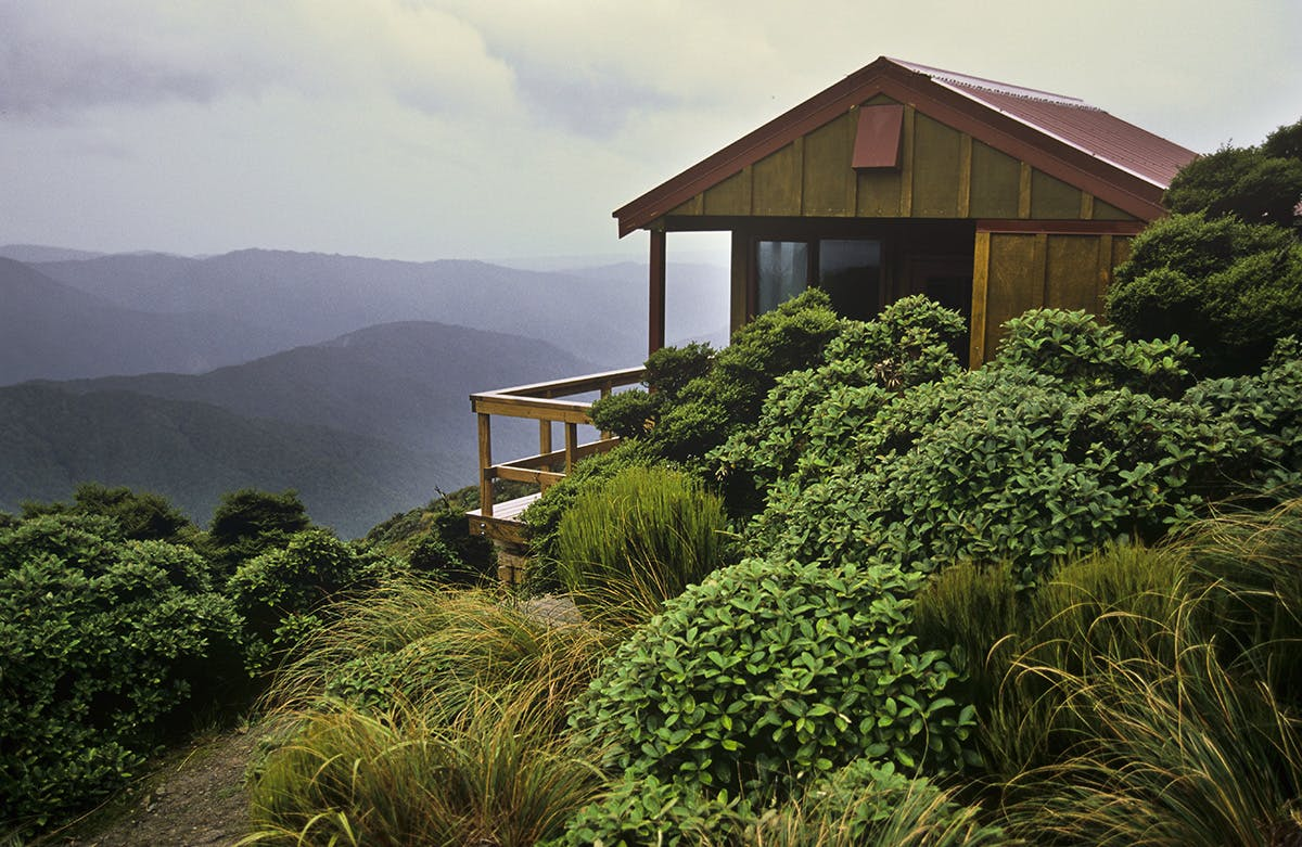 With tea in hand, the views from Elder Hut are something to behold. Photo: Shaun Barnett/Black Robin Photography