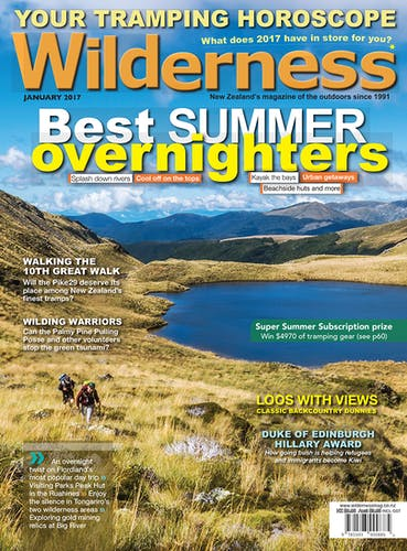 Image of the January 2017 Wilderness Magazine Cover