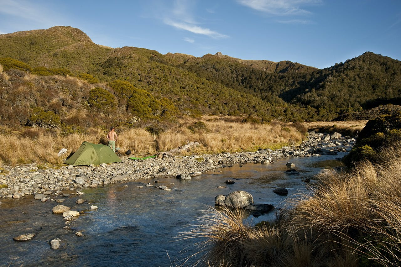 There are plenty of good campsites along the Waipakihi River. Photo: Shaun Barnett/Black Robin Photography