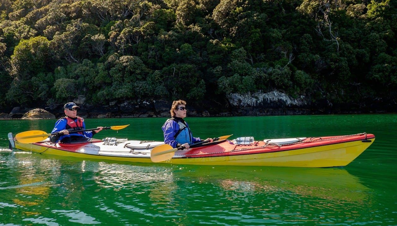 Exploring Paterson Inlet by sea kayak. Photo: Phils Sea Kayak Stewart Island