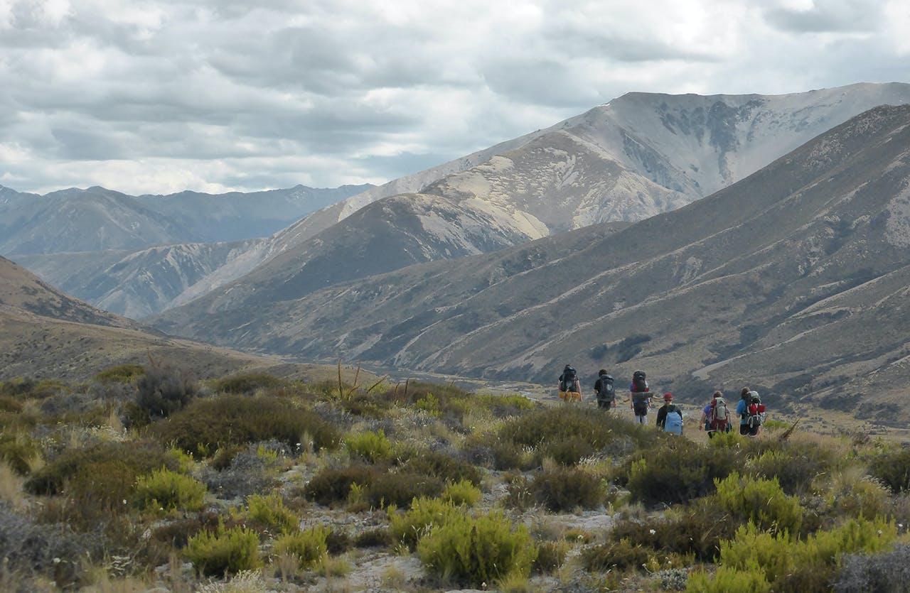 Walking in to Scotties Hut. Photo: Tania Seward