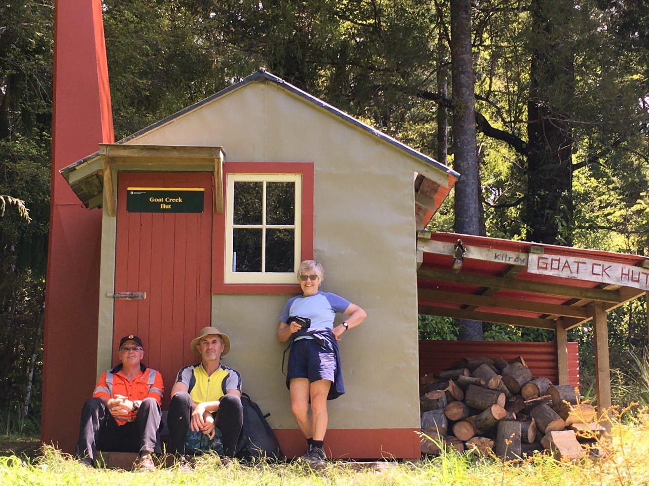 Goat Creek Hut, looking better than ever with a new coat of paint. Photo: Buller Tramping Club