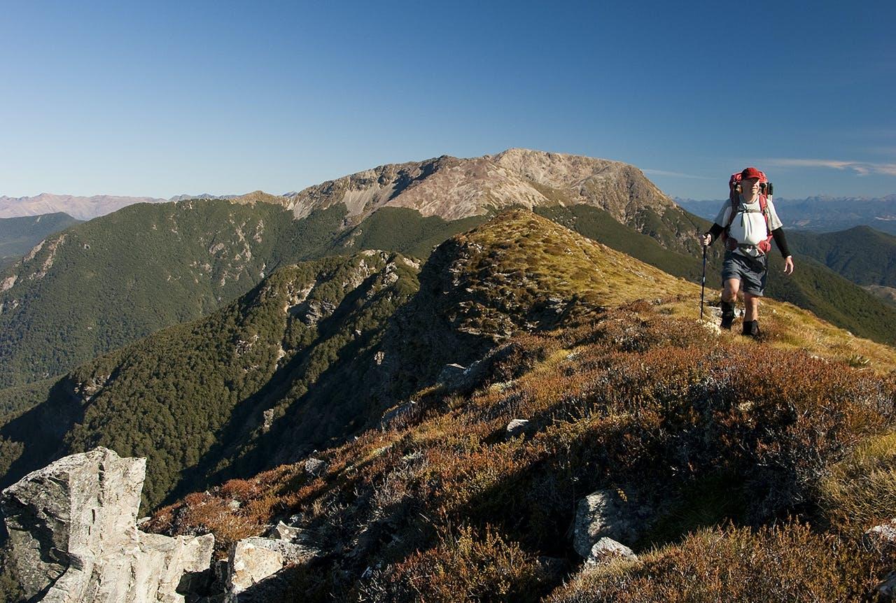 On the Alpine Route traverse. Photo: Ray Salisbury