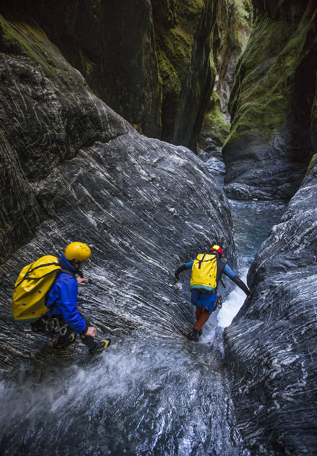Canyoning is a mixture of many sports: climbing, caving and tramping. Photo: Neil Silverwood