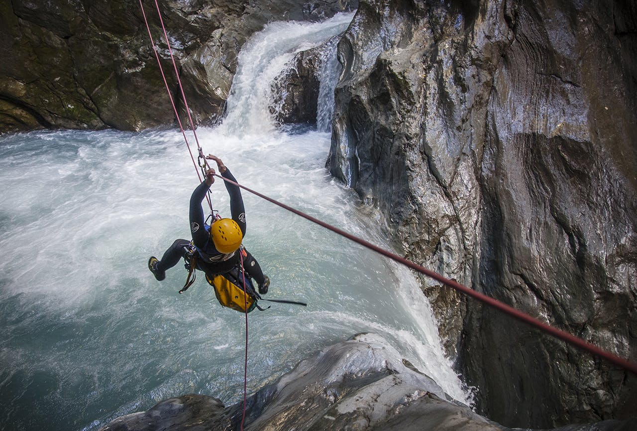 Canyoning requires commitment. Once inside, there's no going back. Photo: Neil Silverwood
